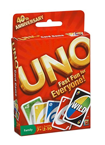 Mattel Uno Card Game with Wild Cards Uno Card Games Great Family Fun for All -