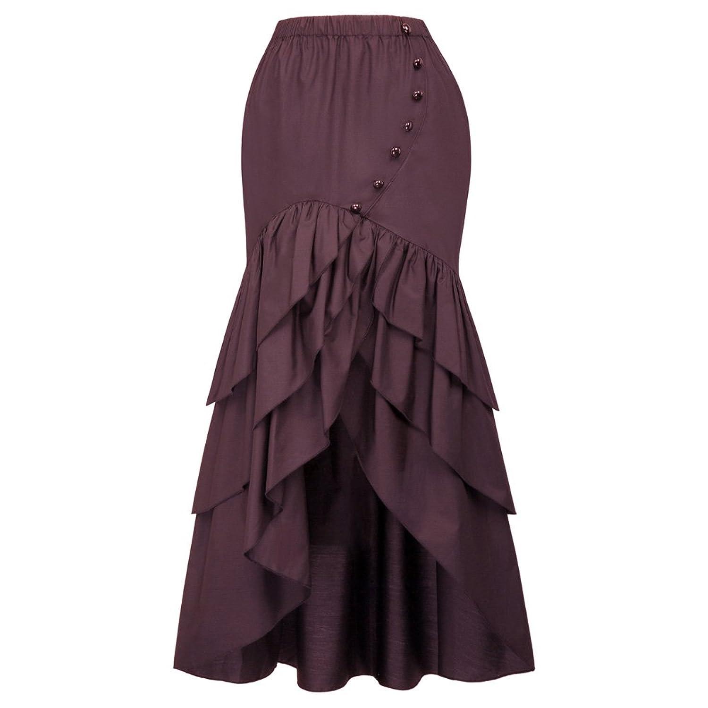 9dc970d2997 Women s Vintage Ruffled Mermaid Steampunk High Low Skirts Features  Steampunk  High Low Skirt