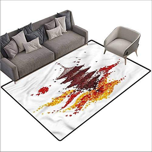 Non-Slip Modern Carpet Modern,Colorful Origami Bird Pagoda 80