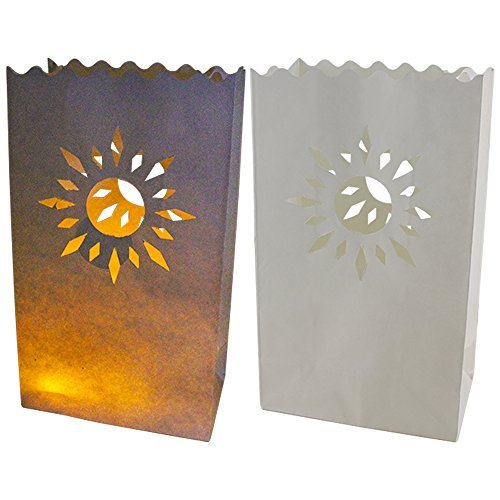 Just Artifacts Paper Luminary Bags for Decorative and Path Lighting (20pc, Summer Sun) by JustArtifacts