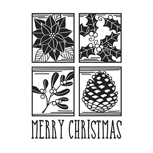 (Darice Embossing Merry Christmas Square Collage Emobssing Folder)