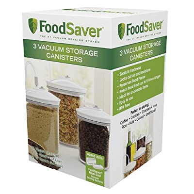 FoodSaver 3 Piece Round Canister Set from FoodSaver