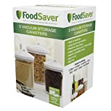 FoodSaver 3 Piece Round, BPA-free Canister Set (Kitchen)