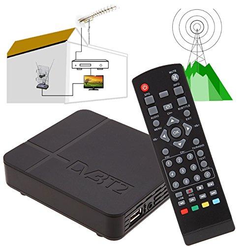 Jiayuane TV Box, K2 DVB-T/T2 Digital Terrestrial Receiver H.264 MPEG-2/4 PVR TV Box Set Top HDTV