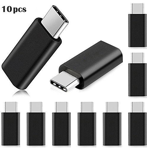 A-store 10 x USB 3.1 Type-C Male to Micro USB Female Converter USB-C Adapter Type, Compatible for Macbook Pro Nokia N1 Tablet, Chromebook Pixel 2015, MSI Gaming Notebooks and 12' Macbook Retina