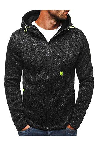Black La Couleur Shirts Manteaux Fermeture Dazosue Les Sweat Vestes Capuche Cardigan des M Pfx4gqw6nU
