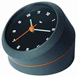 BAI Twister Desk/Wall Clock, Milan Suede charcoal