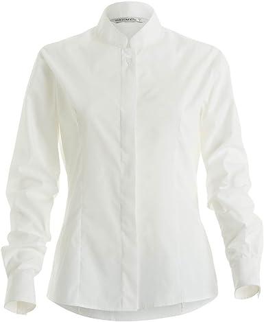 Kustom Kit- Camisa de manga larga entallada con cuello mandarín para mujer: Amazon.es: Ropa y accesorios
