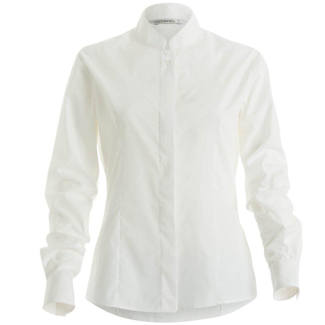 Kustom Kit Donna Camicia con Colletto alla Coreana Manica Lunga
