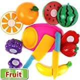 Efbock Children Kitchen Toys/Funny Cutting Fruit or Vegetable Pretend Toys/Colorful Toys for Kids Let's Play House 8pcs/set