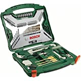 Bosch 2607019331 Titanium Drill and Screwdriver Set (Green and Black, 103-Piece)