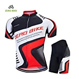 ZEROBIKE® Men's Short Sleeves Cycling Jerseys Shirts Cycling Clothing Bicycle Racing Tights Short Jacket with 4D Pant