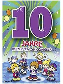 Geburtstagskarte für 10 jährige Jungen: Amazon.de: Bürobedarf