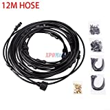 TimmyHouse 12M hose with Standard water tap Garden Misting System Fan Cooler Water Cooling