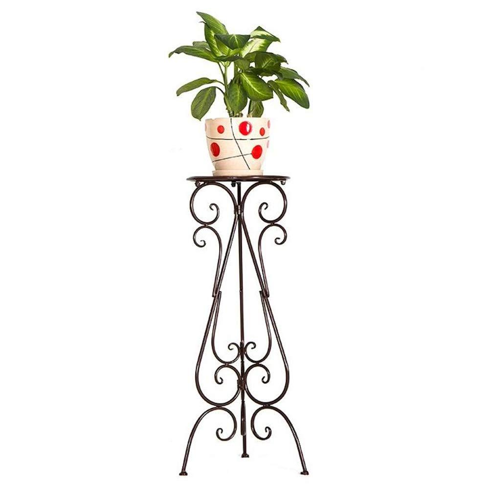 FTING Espositore per Fiori Balcone in Ferro battuto, Pavimento per Soggiorno Europeo per Pavimenti in Vaso da Fiori (colore   Bronzo, Dimensioni   32  75cm)