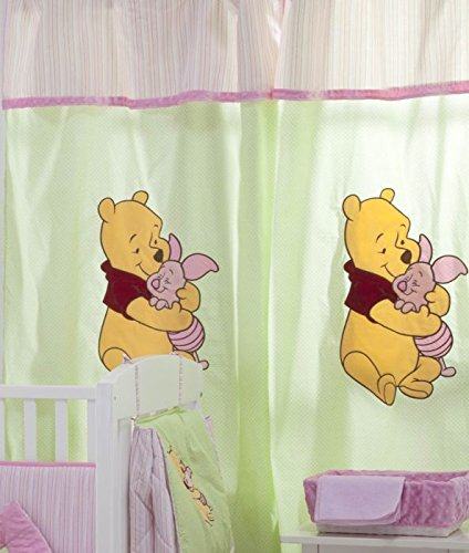 Pooh Carpet The Winnie (Blancho [Pink Winnie The Pooh] Crib bedding Collection Accessory - Window Curtain)