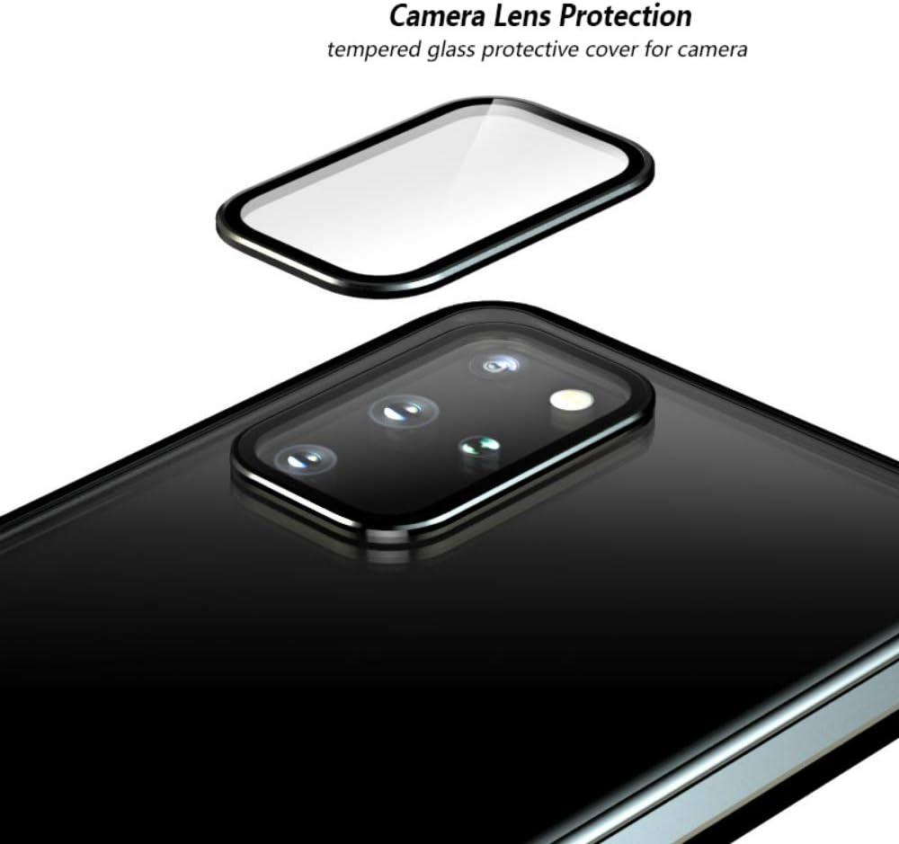 5G Magn/ético Carcasa,Cubierta 360/° Proteccion Delantera y Trasera de Cristal Templado Transparente Cover,Estuche de Adsorci/ón Magn/ética Metal Bumper Case-Plata Funda para Samsung Galaxy S20 Plus//S20