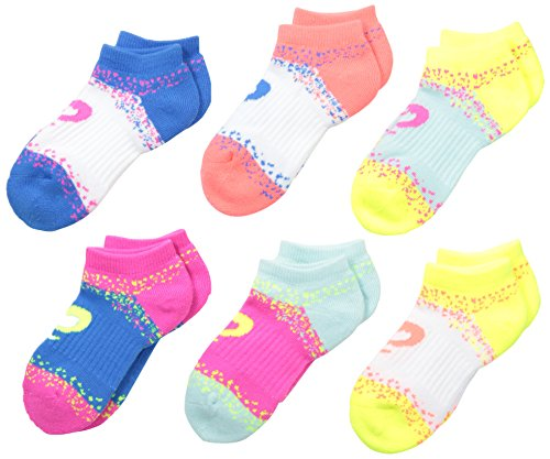 Paquete de 6 calcetines invisibles Splatter para jóvenes de ASICS