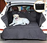 Small SUV Trunk Cover for Dogs, AYADA Pet Cargo Liner Mat Cushion Seat Cover Bed Quilted Nylon Oxford Fabric Waterproof Non-slip Bumper Flap Durable Collapsible fits Trunk Area 35″x40″ – Black