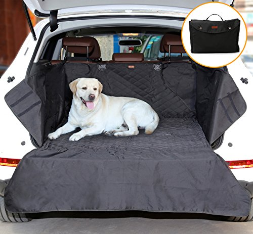 Small SUV Trunk Cover for Dogs, AYADA Pet Cargo Liner Mat Cushion Seat Cover Bed Quilted Nylon Oxford Fabric Waterproof Non-slip Bumper Flap Durable Collapsible fits Trunk Area 35