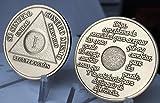 1 A/1o AA Medall/3n Set of 2 Viruta En Espa/1ol One Year Medallion Spanish Language Serenity Prayer