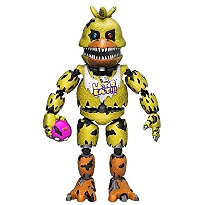 """Funko 5"""" Articulated Five Nights at Freddy's - Nightmare Chica Action Figure: Funko Articulated Action Figure:: Toys & Games"""