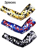 Best Arm Sleeves - 3 Pieces Sports Compression Arm Sleeve UV Sun Review