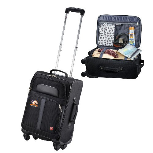 UTA Wenger 4 Wheeled Spinner Black Carry On 'Primary Mark' by CollegeFanGear