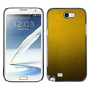 Be Good Phone Accessory // Dura Cáscara cubierta Protectora Caso Carcasa Funda de Protección para Samsung Note 2 N7100 // Metal Pattern Rustic Yellow Metallic