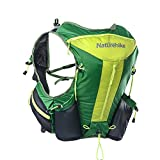 Naturehike 12L Waterproof Functional Running Vest Pack Ultralight Hydration Backpack for Running Cycling Marathon(green)