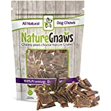 Nature Gnaws Beef Jerky Trail Mix (12 oz) - 100% Natural Grass Fed Beef Dog Chews - Small Dogs & Light Chewers