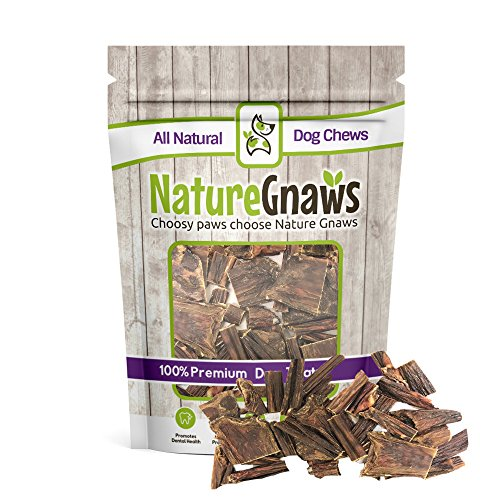 Nature Gnaws Beef Jerky Trail Mix (12 oz) – 100% Natural Grass Fed Beef Dog Chews – Small Dogs & Light Chewers