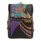 Laptop Backpack Beautiful Black Woman College Backpack for Women Large Picnic Bag