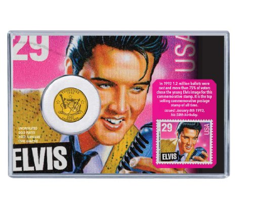 Elvis Presley Coin & Stamp Collectible Set
