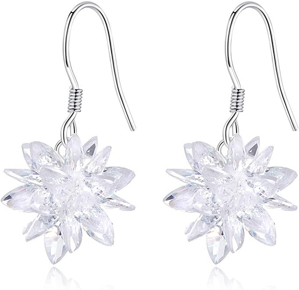 Bamoer Sterling Silver Snowflake Earrings For Women Dangle Drop Earrings Christmas Earrings Jewelry Gifts Jewelry Amazon Com
