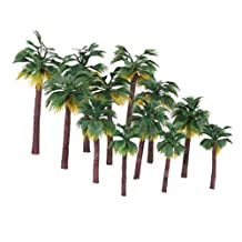12pcs Layout Plastic Palm Tree Scenery model artificial palm tree leaves