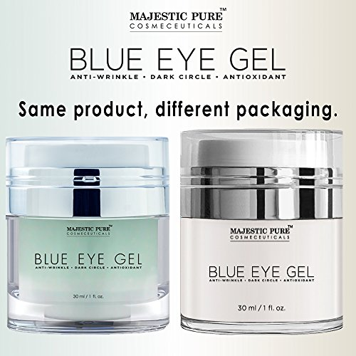 Majestic Pure Blue Eye Gel, Reduces the Appearances of Wrinkles and Dark Circles - Eye Cream Formula for Skin Tone and Resilience - 1.0 fl. oz. by Majestic Pure (Image #6)