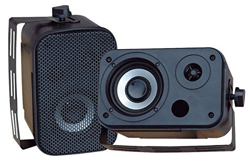 Pyle Home PDWR30B 3.5-Inch Indoor/Outdoor Waterproof Speakers (Black) (Pair)