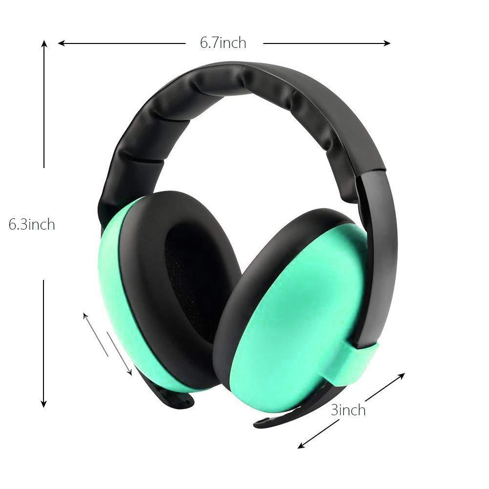 diadema ajustable para protecci/ón auditiva para beb/és de 0 a 3 a/ños multicolor Aud/ífonos con cancelaci/ón de ruido para ni/ños con reducci/ón de ruido ni/ños peque/ños