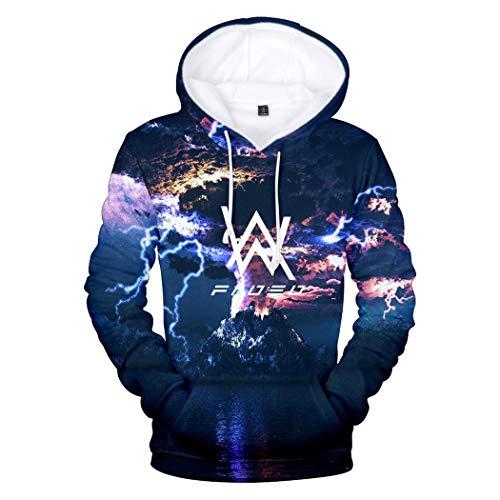 Sweatshirt Felpa De Moda Lunga Streetwear Casuale Hoodie Nero Olav Con 3d Stampato Uomo Walker Pullover Felpe Manica Cappuccio Pzj Alan OwCdqCP