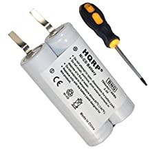 HQRP Battery for Philips Norelco Shavers, 482213810334, 482213810673, 482213810727, Philishave 96-08 Replacement + HQRP Screwdriver and Coaster