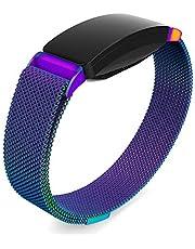 Oenfoto Armband kompatibel Fit bit Inspire & Inspire HR, Metallarmband mit einzigartigem Magnetverschluss für Fit bit Inspire/Inspire HR, Damen Herren, Large Small