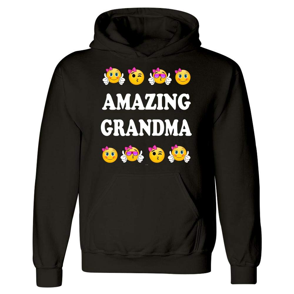 Amazing Grandma Funny Emojicon Gift for Mothers Day Hoodie