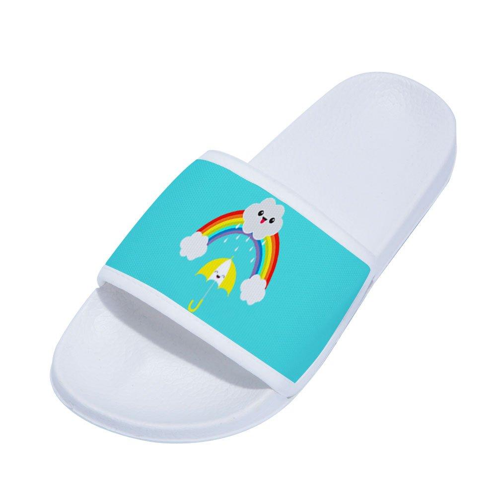 gordonKo Boys Girls Slides Sandals Cute Rainbow Non-Slip Shower Sandal Slippers for Kids