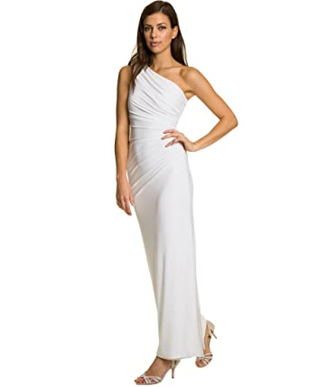 Le Chteau Womens Knit One Shoulder Formal Gown At Amazon Womens