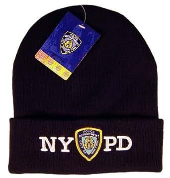 Amazon.com: NYPD Winter Hat Police Badge New York Police