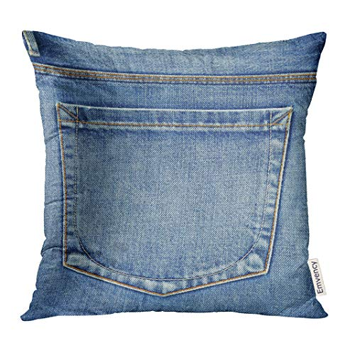 - Golee Throw Pillow Cover Blue Country Empty Back Pocket of Jeans Denim Western Decorative Pillow Case Home Decor Square 18x18 Inches Pillowcase