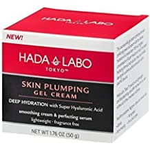 Hada Labo Tokyo Skin Plumping Gel Cream, 1.76 FL OZ - with Super Hyaluronic Acid and Collagen - 24-Hour Moisture and Visible Line Plumping, fragrance free, paraben free, non-comedogenic