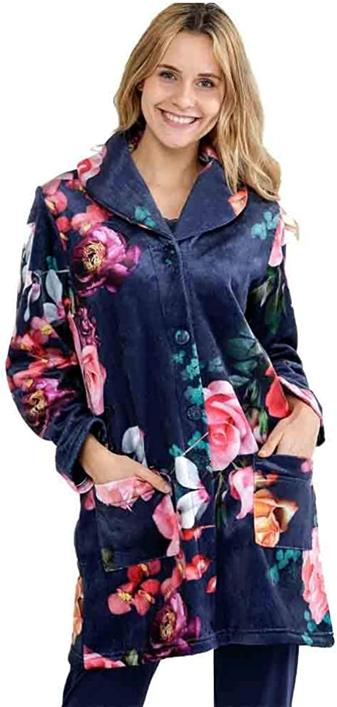 TALLA M. Massana Bata de Mujer Estampada Flores L686243