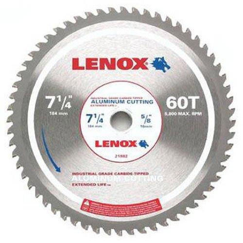 Disco Sierra LENOX Corte de aluminio 7 1 / 4i x 60T (21882